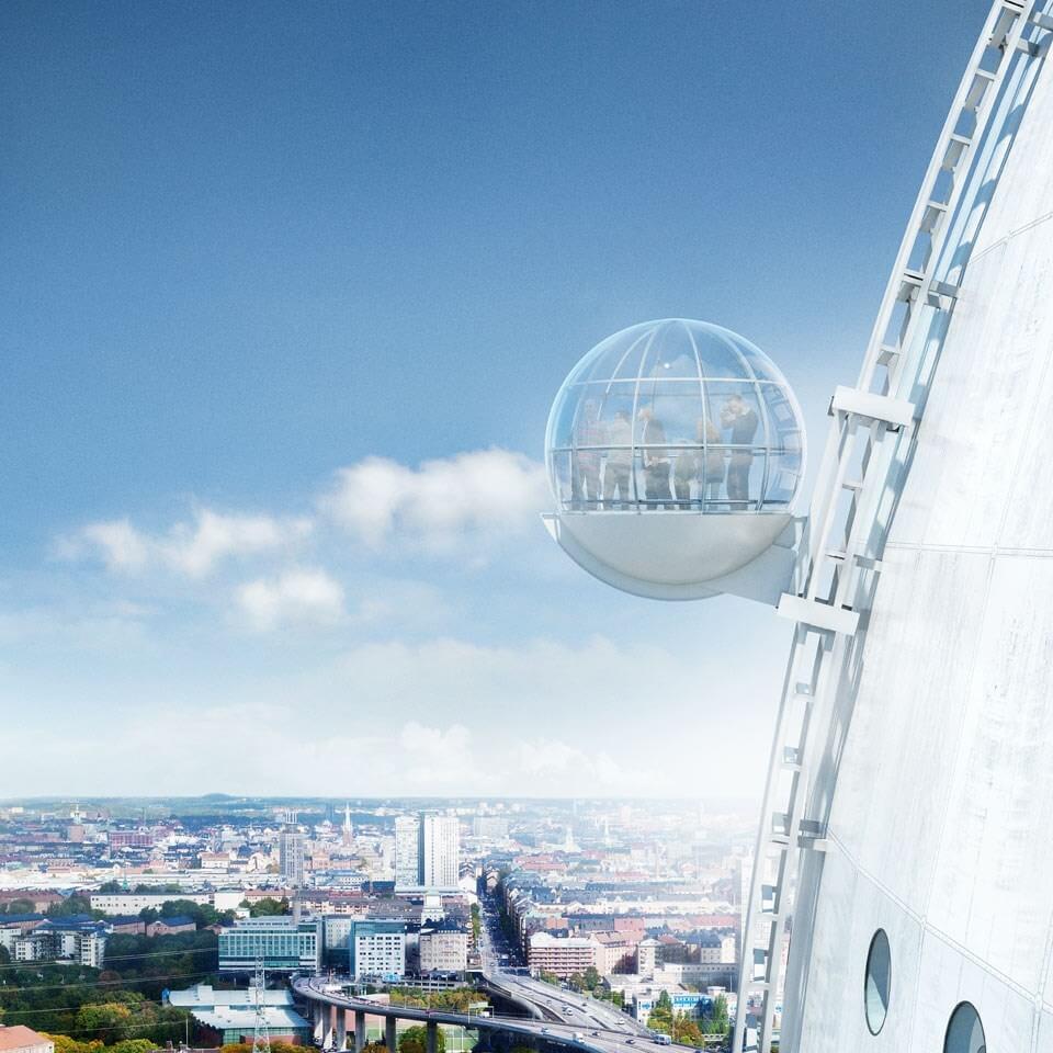 globen skyview круговой лифт